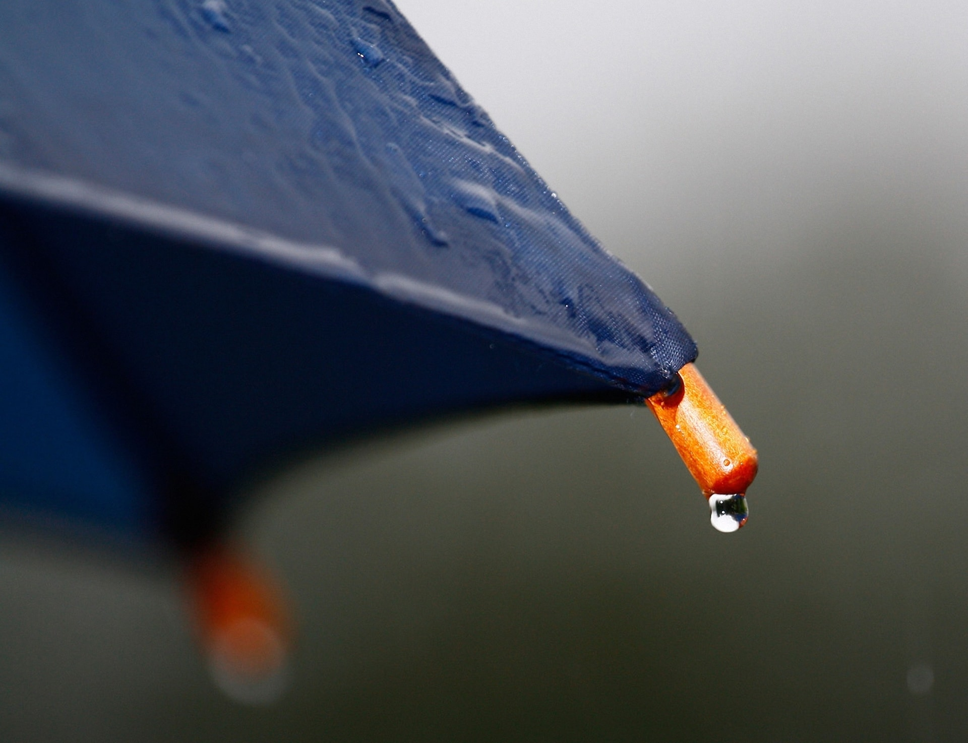 water drop on an umbrella